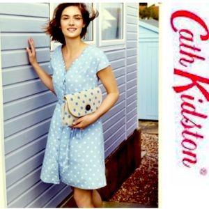 Cath Kidston Dress Button Dot Chambary Cotton 6